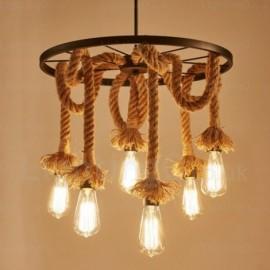 6 Light Vintage/Retro Pendant Lights for Living Room, Dining Room, Bedroom, Balcony