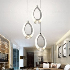 1 Light Modern/Contemporary Pendant Lights with Crystal Shade for Dining Room, Corridor