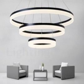 3 Light Modern/Contemporary Pendant Lights with Acrylic Shade for Living Room, Dining Room, Storeroom, Bedroom, Hotel