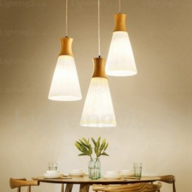 1 Light Modern/Contemporary, Nordic Pendant Lights with Glass Shade for Dining Room, Corridor, Hotel, Hallway