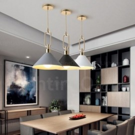 1 Light Nordic, Modern/Contemporary Pendant Lights with Stainless Steel Shade for Living Room, Bedroom, Dining Room, Cafes, Bar, Shops