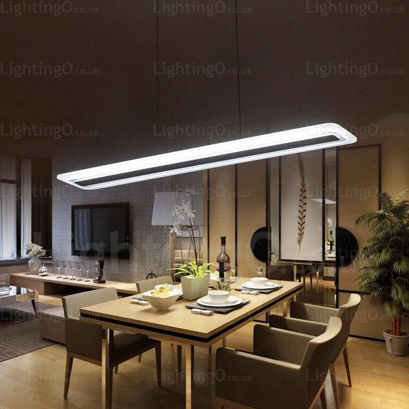 Light Filled Contemporary Living Rooms: 1 Light Modern/Contemporary Pendant Lights With Acrylic