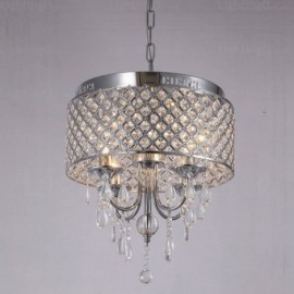 1 Light Modern/Contemporary Pendant Lights with Crystal Shade for Living Room, Dining Room, Bedroom, Hotel