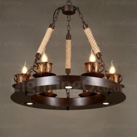 9 Light Country/Rustic Pendant Lights for Living Room, Bedroom, Dining Room, Cafes, Bar