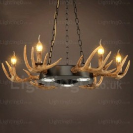 9 Light Vintage/Retro Pendant Lights for Living Room Dining Room Cafes, Bar, Bedroom