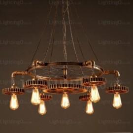 7 Light Vintage/Retro Pendant Lights for Living Room, Dining Room, Bedroom, Cafes, Bar