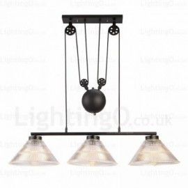 2 Light Modern/Contemporary Pendant Lights with Glass Shade for Living Room, Dining Room, Bedroom