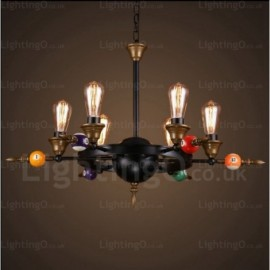 4 Light Country/Rustic, Vintage/Retro Pendant Lights for Living Room, Bedroom, Bar, Dining Room, Cafes