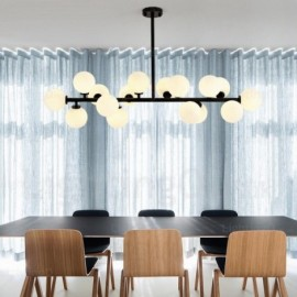 16 Light Nordic Pendant Lights with Glass Shade for Living Room, Dining Room, Bedroom, Bar