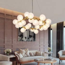 25 Light Nordic Pendant Lights with Glass Shade for Living Room, Dining Room, Bedroom, Bar