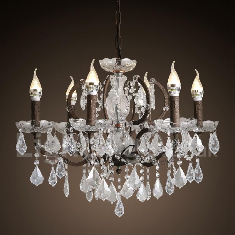Painting Dining Room Chandelier: 6 Light Diameter 60CM Vintage Crystal Painting Metal