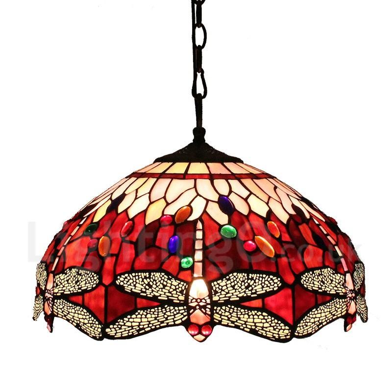 diameter 40cm 16 inch handmade rustic retro tiffany pendant lights