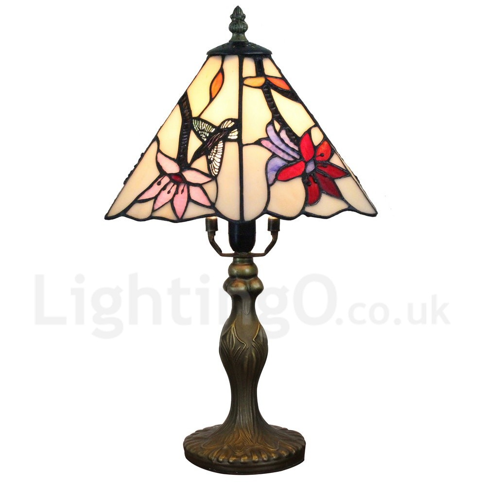 Handmade Rustic Retro Tiffany Table Lamp Resin Base