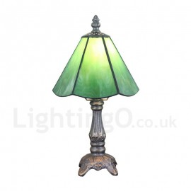6inch Handmade Rustic Retro Tiffany Table Lamp Green Lamp Shade Bedroom Living Room Dining Room