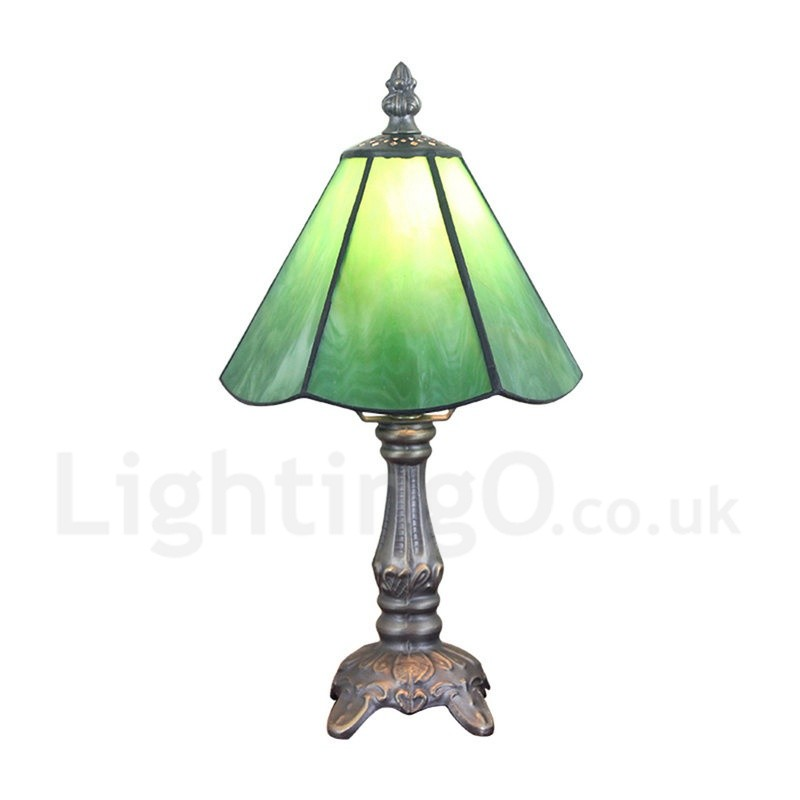 6inch Handmade Rustic Retro Tiffany Table Lamp Green Lamp