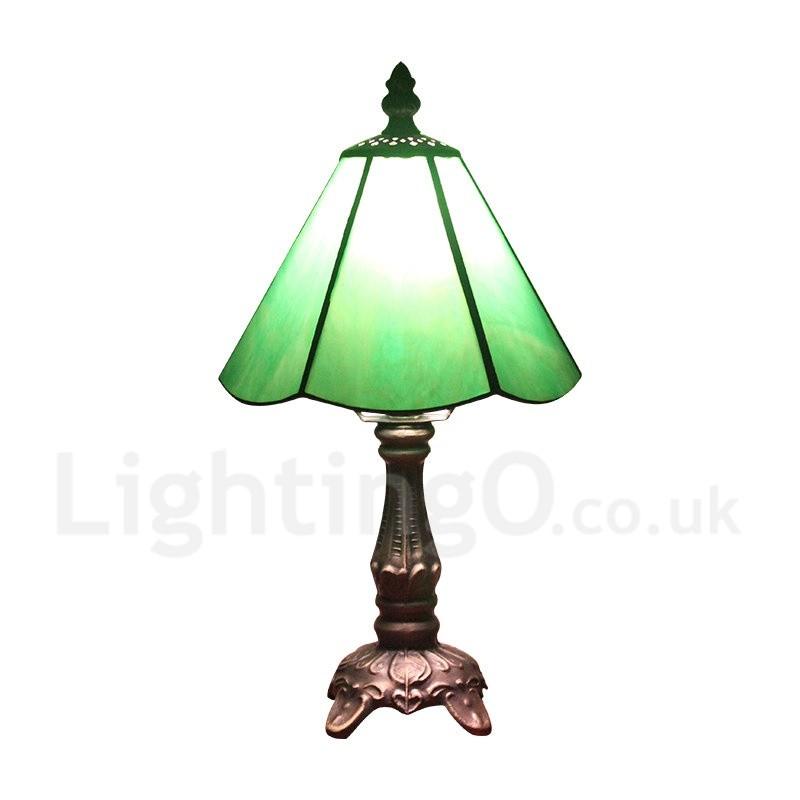 6inch Handmade Rustic Retro Tiffany Table Lamp Green Lamp