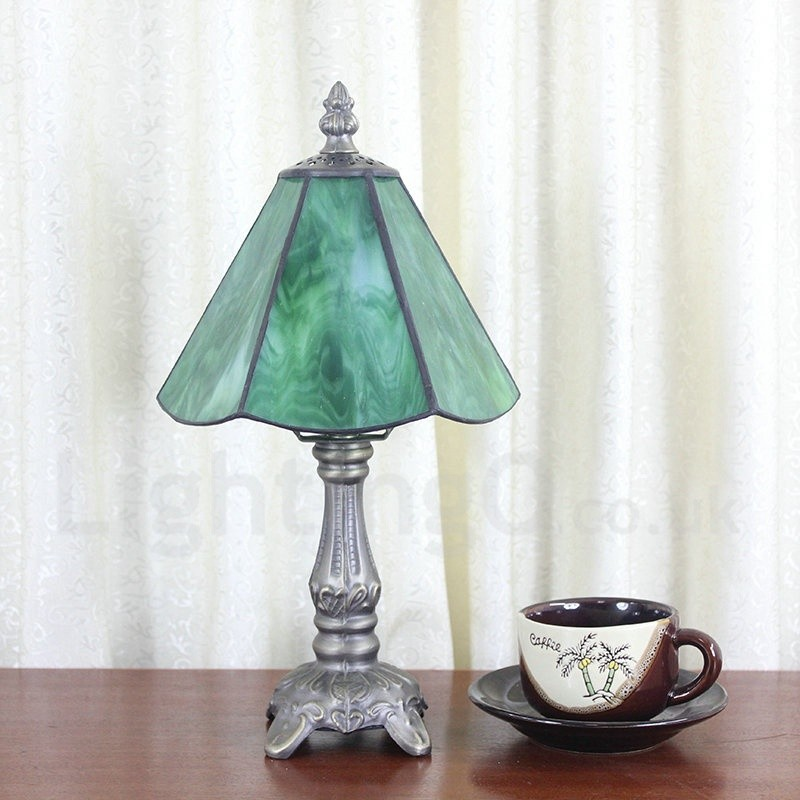 Living Room Lamp Shades: 6inch Handmade Rustic Retro Tiffany Table Lamp Green Lamp
