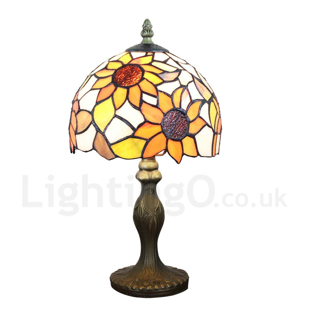 Handmade rustic retro tiffany table lamp resin base for Tiffany d dining room