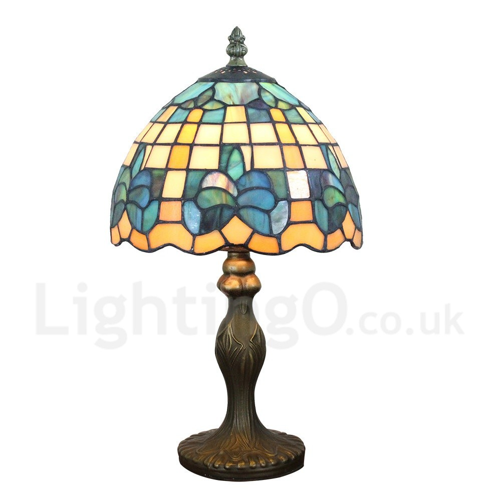 Handmade Rustic Retro Tiffany Table Lamp Resin Base ...