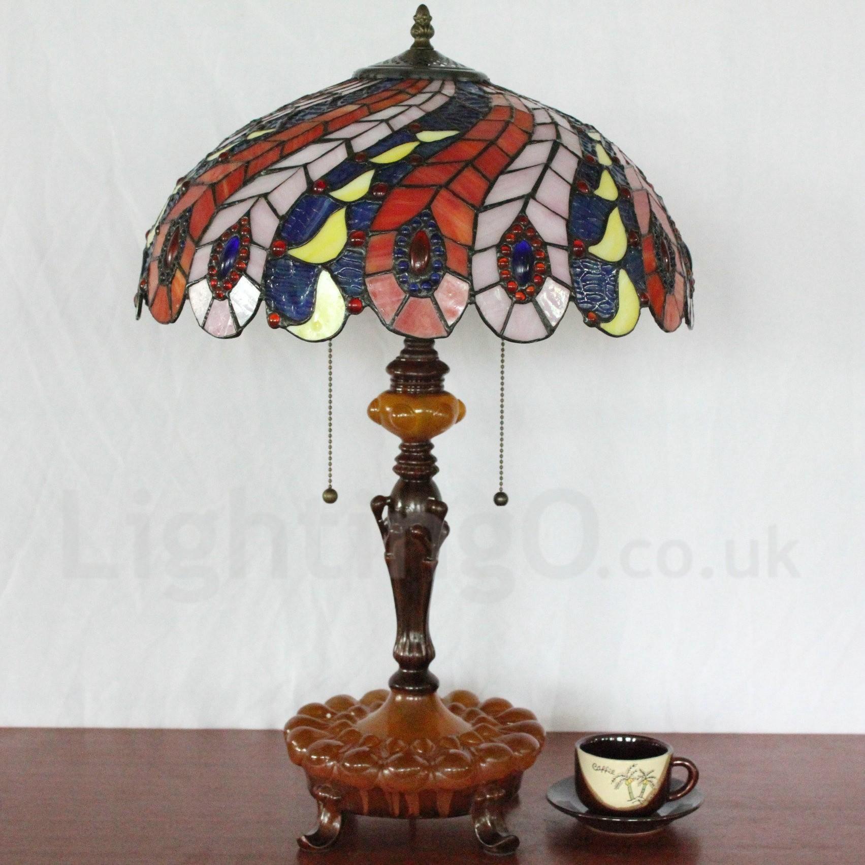 Diameter 40cm 16 Inch Handmade Retro Tiffany Table Lamp