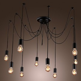 Chandelier Vintage Design Bulbs Included Living 10 Lights Pendant Light