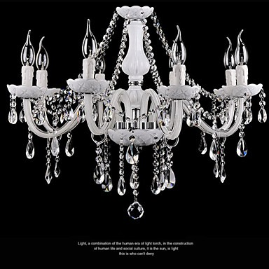 Chandeliers Crystal Modern 8 Lights /Contemporary Living Room/Bedroom/Dining Room/Office Glass
