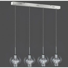 35W Modern/Contemporary / Traditional/Classic Chrome Metal Pendant LightsLiving Room / Bedroom / Dining Room / Study Room/Office / Kids 4 Light Pendant Lamp