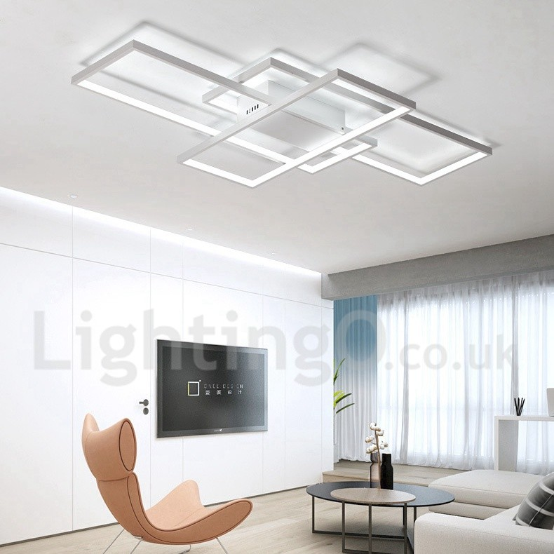 Led modern comtemporary alumilium painting ceiling light flush mount wall light with remoter for Wall mounted light fixtures living room
