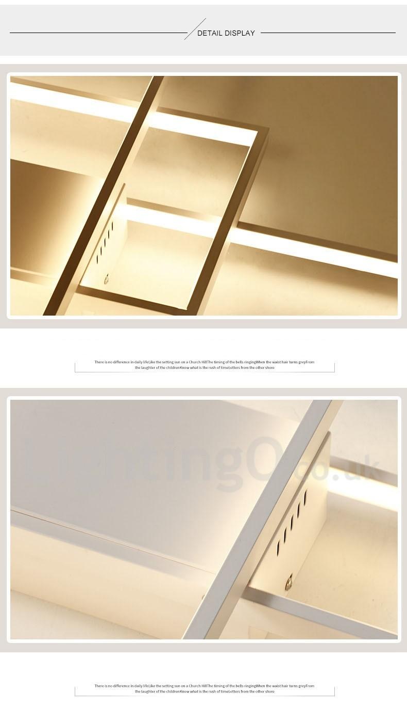 Led Modern Comtemporary Alumilium Painting Ceiling Light