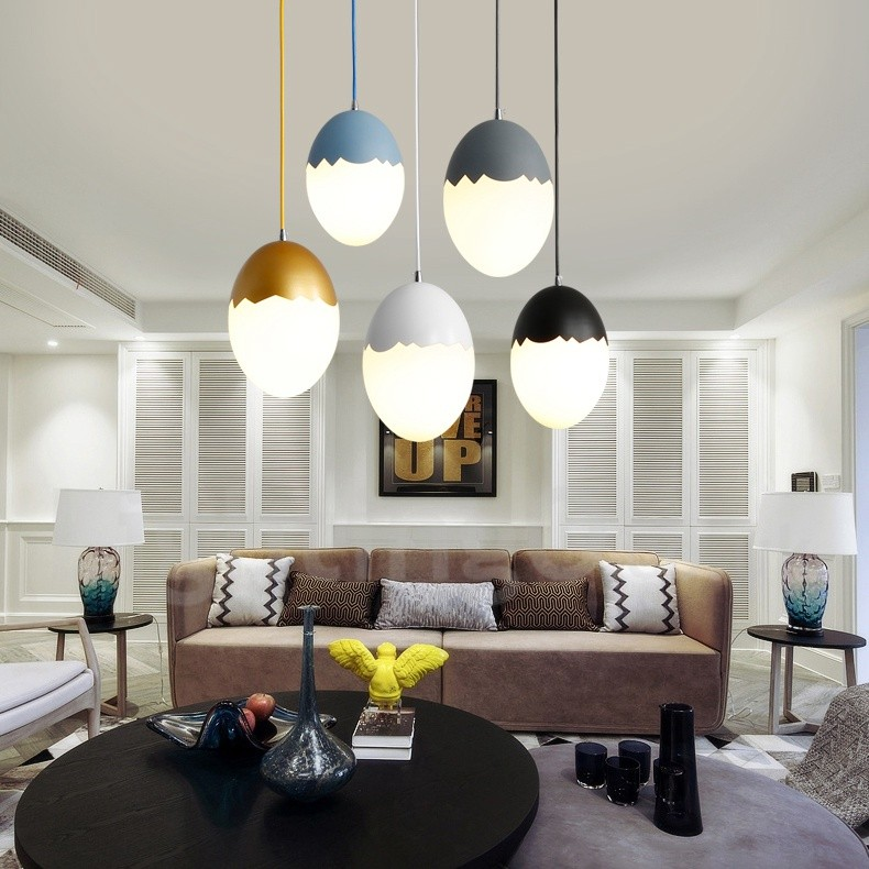 modern contemporary steel lighting living room bedroom dining room pendant light