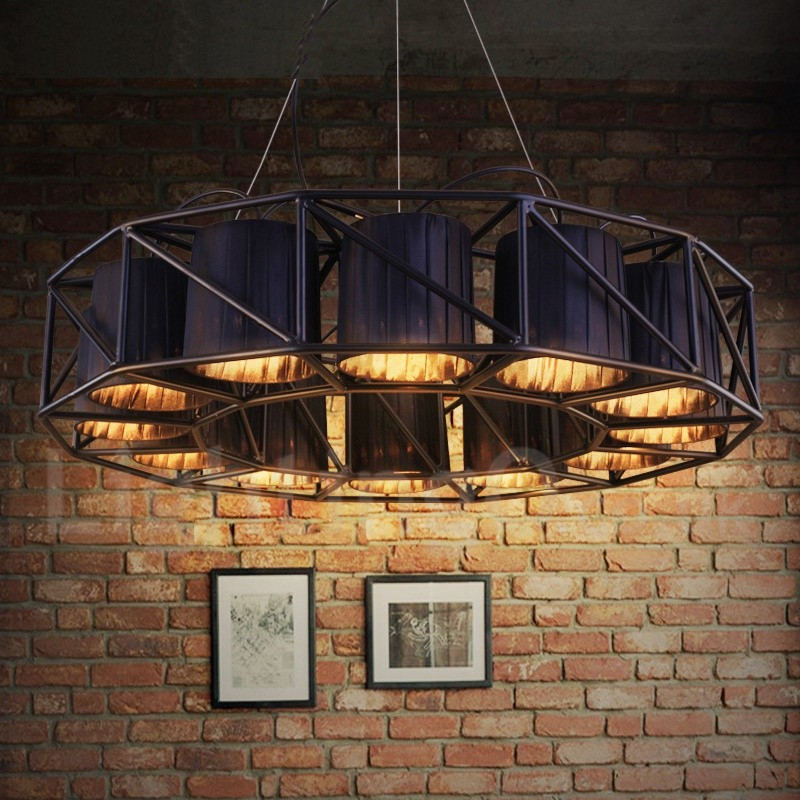 Industrial Style Steel Lighting Dining Room Living Room Bar Coffee Store Pendant Chandelier