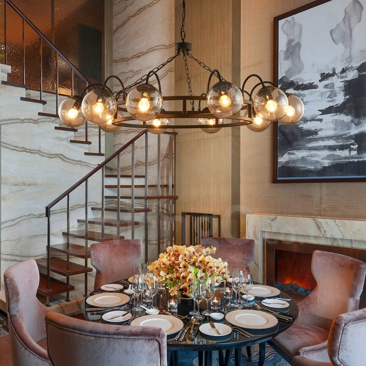 Dining Room Store: Industrial Style Steel Lighting Living Room, Study, Dining