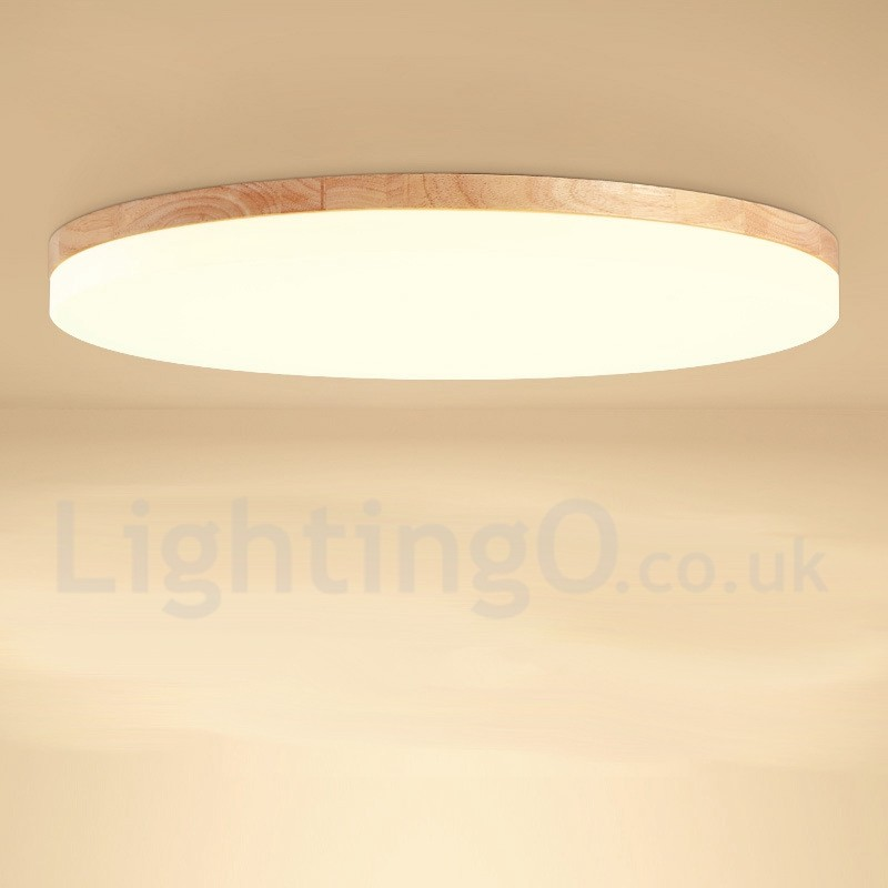 Nordic Round Bedroom Ceiling Lamp Simple Modern Solid Wood Living Room Balcony Lamp Ultra Thin Led Ceiling Lamp Lightingo Co Uk