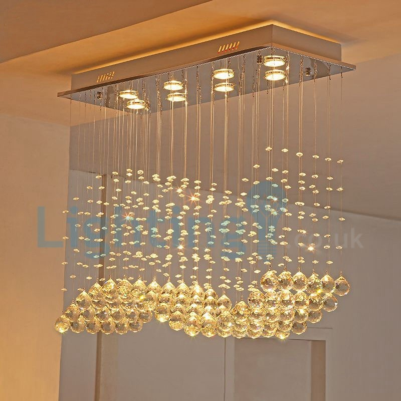 modern light chandelier lights long hotel contemporary for way crystal fixture hallway rain room wedding living mount high building pendant led foyer entry flush romantic drop ceiling