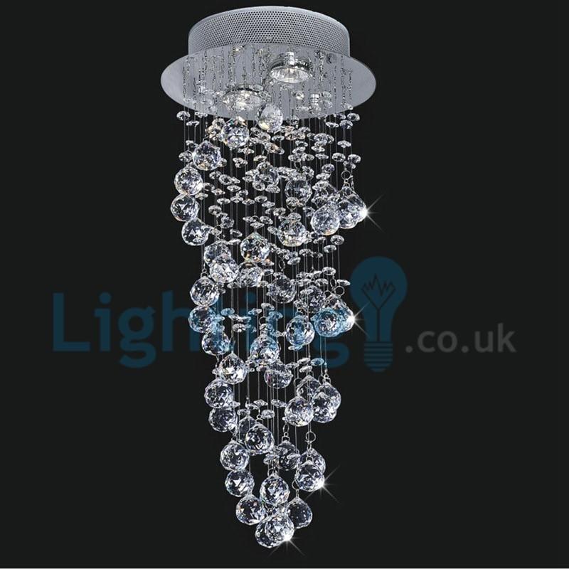 Modern Chandelier For High Ceiling: Modern Contemporary Chandelier Flush Mount LED Pendant