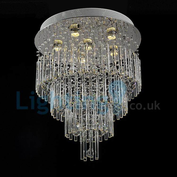 Modern 60 70 90cm Crystal Led Chandeliers Ceiling Lights: Modern Contemporary Chandelier Flush Mount LED Pendant