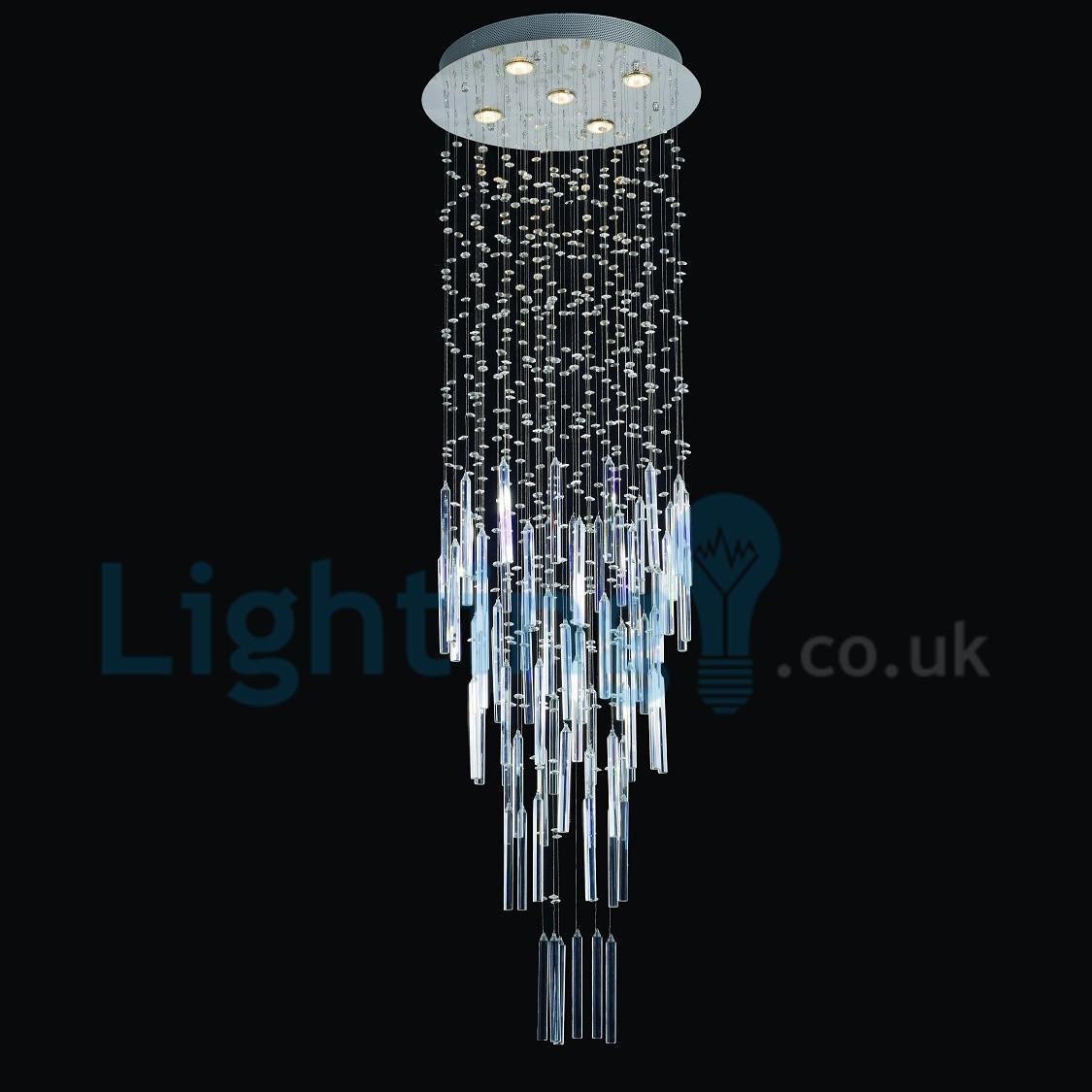Modern contemporary chandelier flush mount led pendant for Led lights for high ceilings