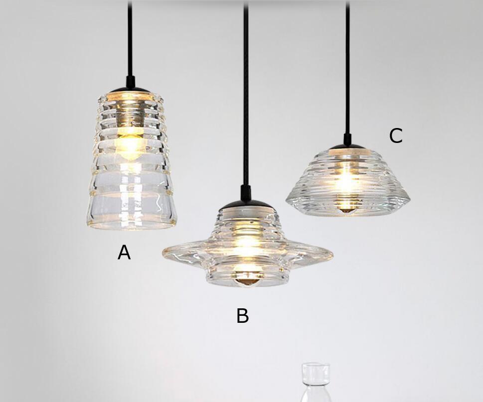 Single Head Glass Pendant Light Living Room Dining Room