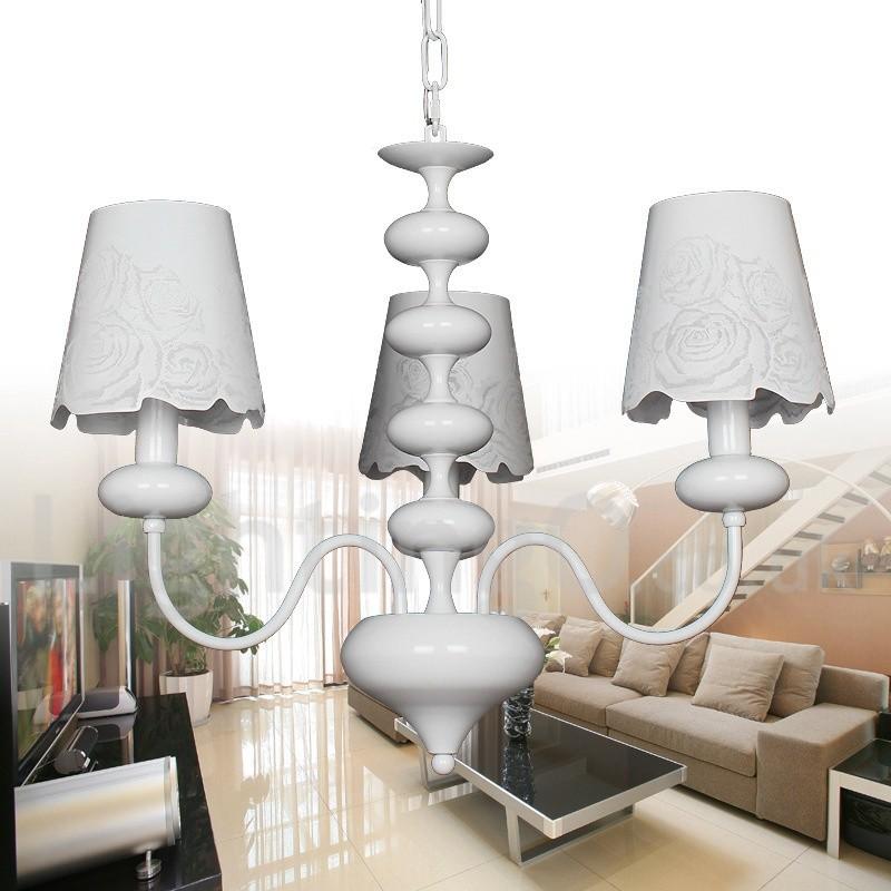 3 Light Modern Contemporary Hollow White Living Room