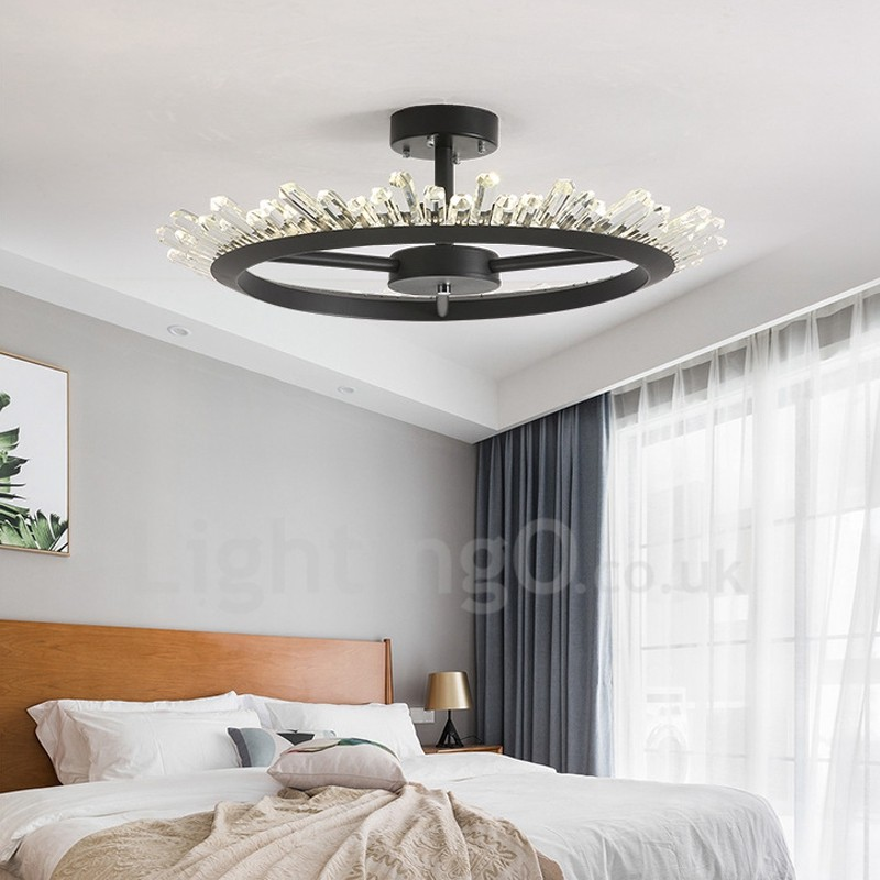 Light Filled Contemporary Living Rooms: Modern/Contemporary Crystal Ceiling Lights Bedroom Living