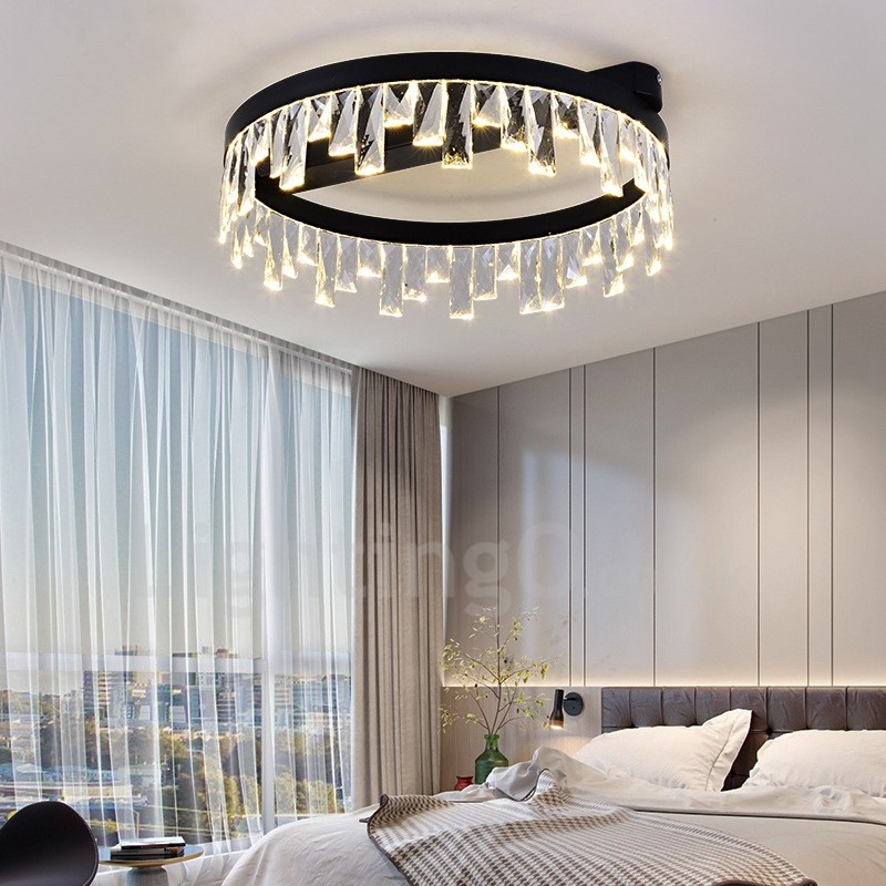 Exceptional Modern Minimalist Creative Circular Ceiling Crystal Light Study Room Living  Room Bedroom Dinning Room ...