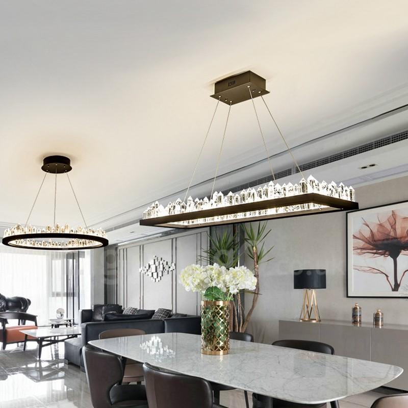 Enjoyable Newest Design Rectangle Crystal Pendant Lights Bar Living Room Dining Room Bedroom Download Free Architecture Designs Lectubocepmadebymaigaardcom