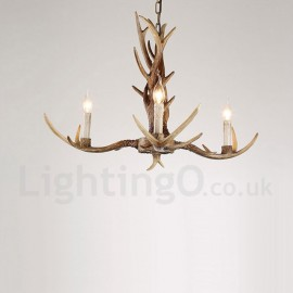 Rustic antler chandeliers uk rustic antler chandeliers on sale 3 light rustic artistic retro antler vintage candle chandelier for living room dining room aloadofball Image collections