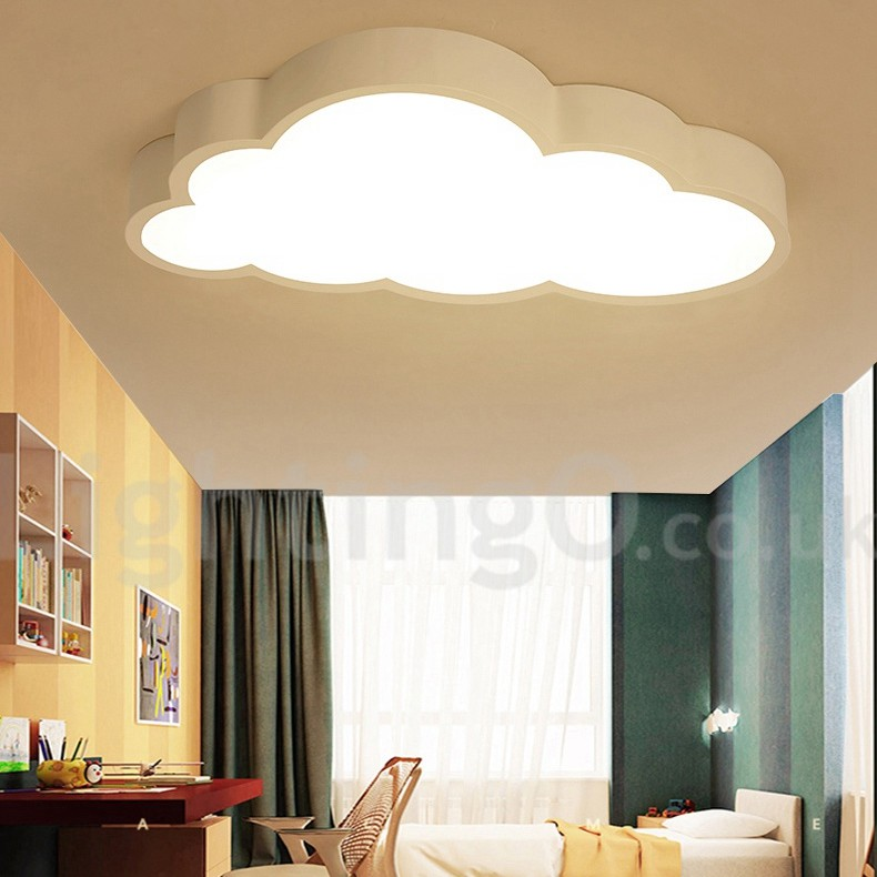 Ultra Thin Kids Room Clouds Dimmable Led Modern