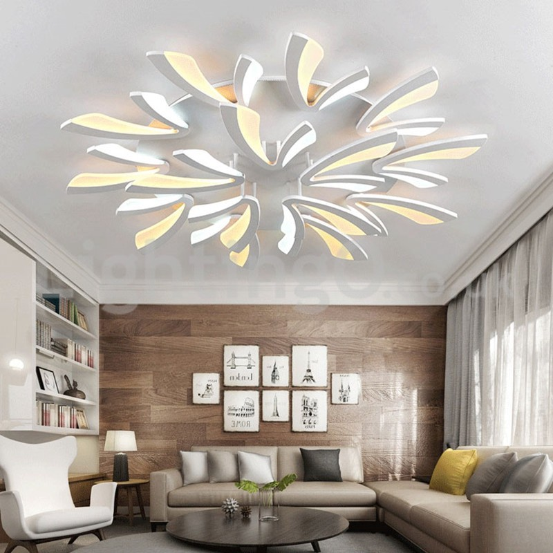 Personality 15 Lights Elegant Modern Flush Mount Ceiling