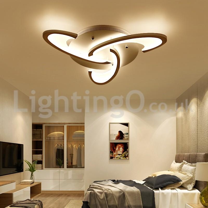 3 Bulbs Modern Flush Mount Ceiling Lights Living Room