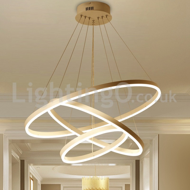 Modern Three Circle Pendant Lights Remote Control Living Room Study Bedroom Showroom Lightingo Co Uk