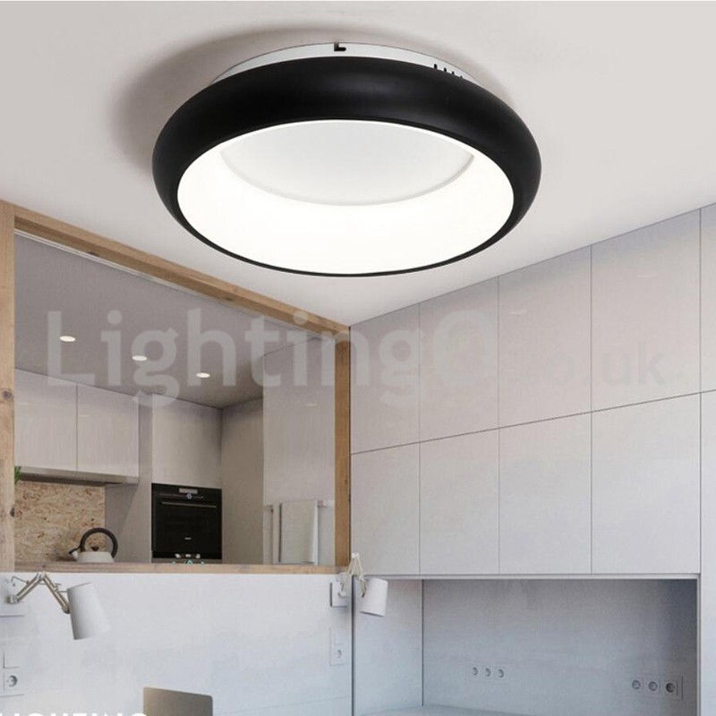 Modern Round Flush Mounted Ceiling Lights Study Room