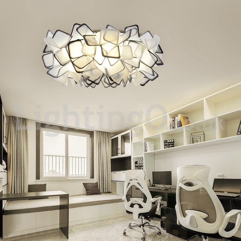 Modern Light Source Three Color Switching Flush Mount