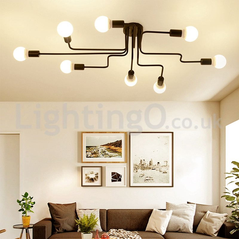 Countryside Flush Mounted Ceiling Lights Study Room